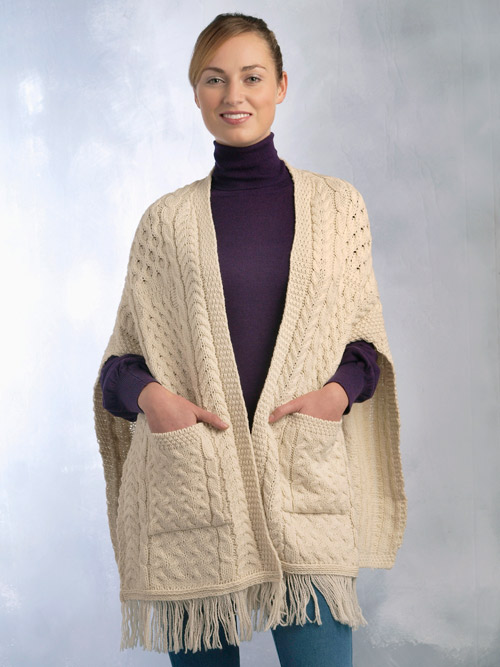 Knitting Pattern For Ladies Cardigan With Pockets : Aran Crafts Sweater Womens Ladies