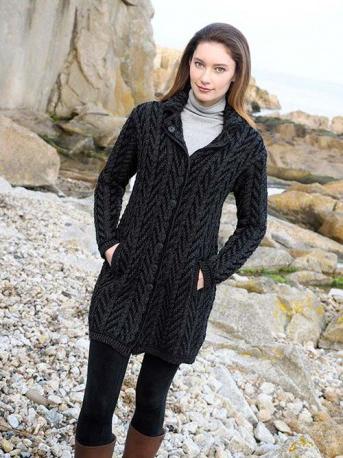 Black Sweater Coat Cardigan