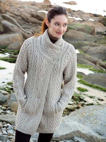Knitting Patterns For Ladies Jerseys : Aran Crafts Sweater Womens Ladies