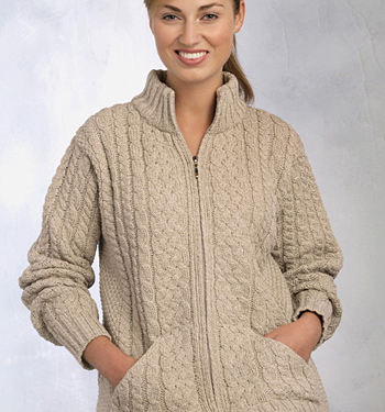 Womens Irish Sweater by Aran Crafts
