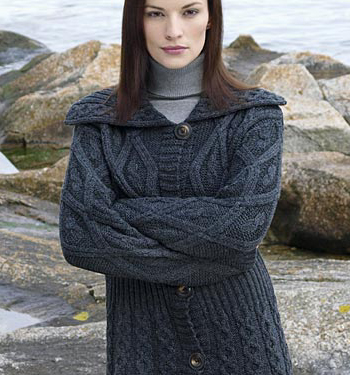 Womens Irish Sweater by Aran Crafts of Ireland