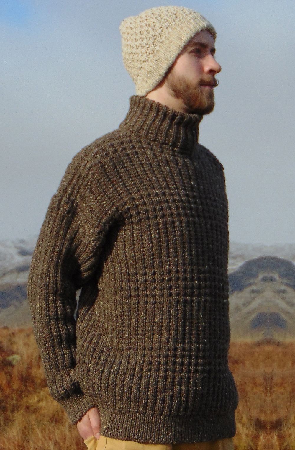 Aran Crafts Sweater Mens