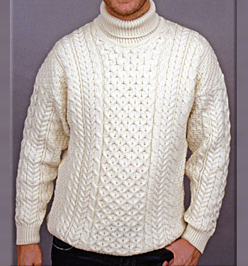 Mens Unisex Merino Wool Turtleneck Polo Sweater