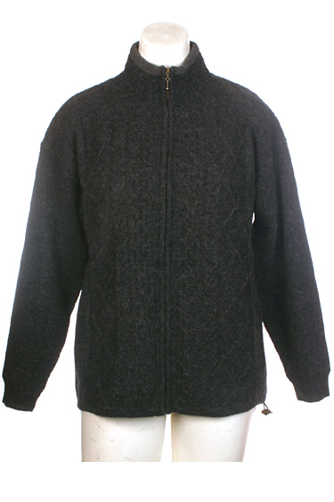 Carraig Donn Irish Aran Wool Sweater Lined Cable Knit Cardigan