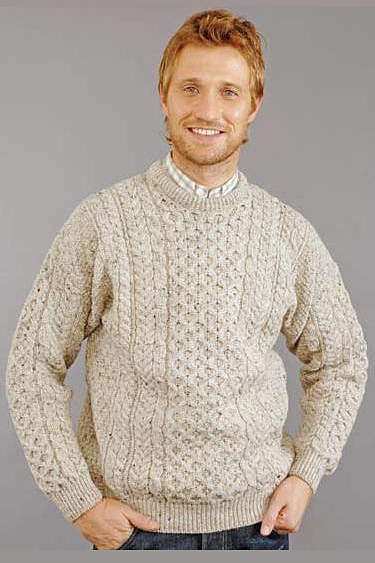 Irish traditional apparel worsted wool fall winter sweater