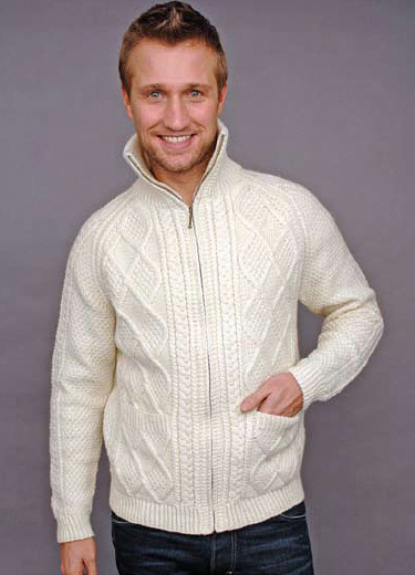 Irish traditional apparel wool fall winter sweater