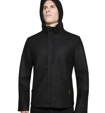 Mens Merino Wool Coastal New Zealand Icebreaker Boulder Hood Hoody Coat/Jacket