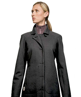 New Zealand Womens Merino Wool Hip Length Icebreaker Mayfair Coat - Coastal