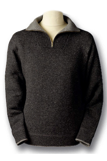 Ireland's Eye Qtr/Half Zip Wool Sweater