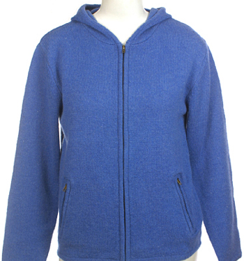 Womens Ladies Girls Wool Zip Hoody Hoodie Sweater