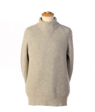 Ireland s Eye Mens Wool and Cashmere Ribbed Turtleneck Sweater a523 Turtleneck Polo Jumper Submariner