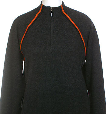 Mens Merino Wool Modern Zip Neck Winter Ski Sweater by Neve Designs