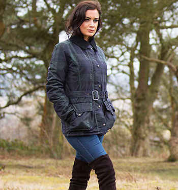 Oxford Blue Waxed Cotton Jacket Classic womens outerwear