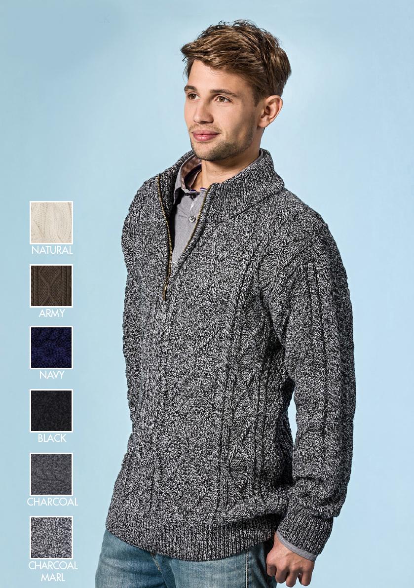 Mens Ribbed Turtleneck Sweater